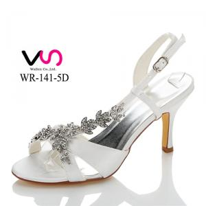 WR-141-5D 8cm heel height metal decoration bridal shoes