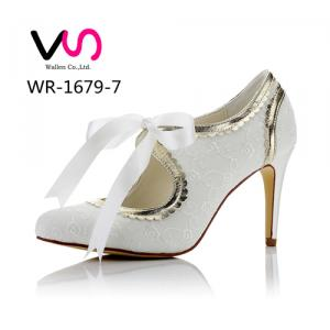 WR-1679-7 Embroidery Lace with Flower Edge 9cm Heel Height