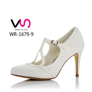 WR-1679-9 Y Bar Pump Vintage Mary Jane Bridal Shoes