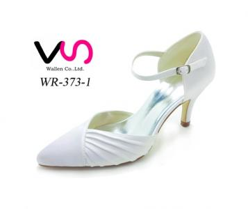 6cm pointy shoe toe elegant bridal shoes by dyeable satin
