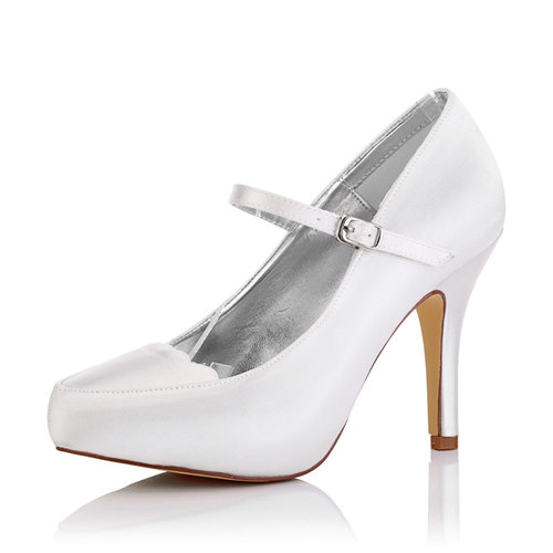 WR-370-96 Dyeable Satin Cheap Bridemaid Shoe Mary-Jane