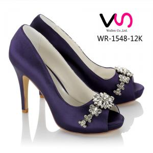 WR-1548-12K Purple Color 10cm with Platform Open Shoe Toe