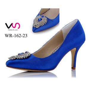 WR-162-23 Royal Blue color with crystal party evening shoes