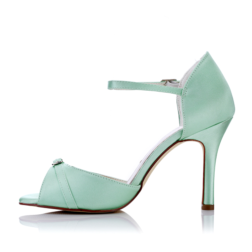 WR-516-17 9cm Heel Height Mint Color Evening Shoes Party Shoes
