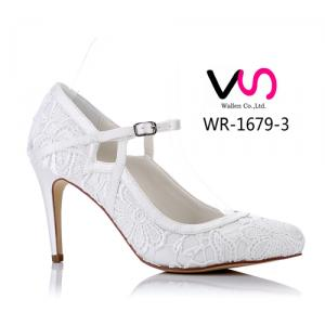 WR-1679-3 Elegant Lace Bridal Shoes with Elegant 9cm Heel