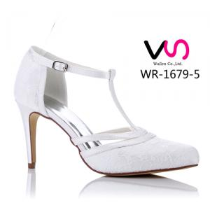 WR-1679-5 Lace Wedding Bridal Shoes by 9cm Heel