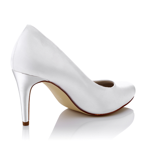 WR-1679-2 Pump Style Dyeable Satin Ivory Color Bridal Shoes