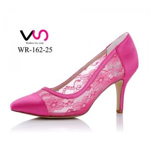 WR-162-25 Lace Pink color Evening party shoes