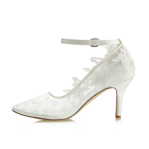 WR-162-39 Ivory colour Bridal Wedding Shoes