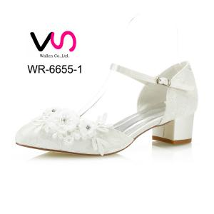 4cm heel height Flat Wedding Bridal Shoes