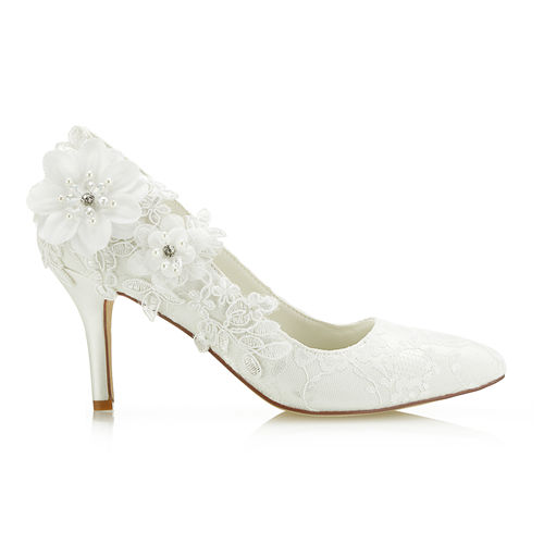2018 new styles Medium Heel Ivory Colour Wedding Bridal Shoes