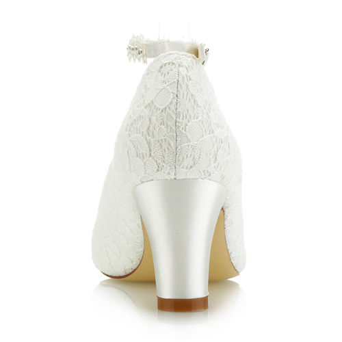 Strong Heel Lace Wedding Shoes with Comfortable Heel