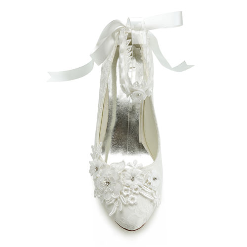 WR-6231-1B 2018 Lace Wedding Shoes for Bride