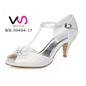 WR-59494-17 6.8cm Heel Height Ivory Color Women Bridal Wedding Shoes