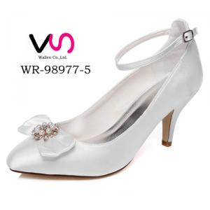 WR-98977-5 Ivory Color Pointy Shoe Toe Pump Wedding Bridal Shoes