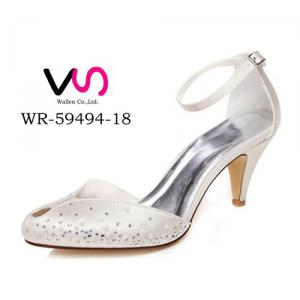 WR-59494-18 6.8cm Ivory Color Rhinestones with Special Peep Shoe Toe