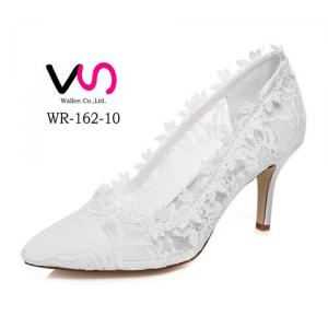 8cm Heel Height Nice Lace Delicated Wedding Bridal Shoes