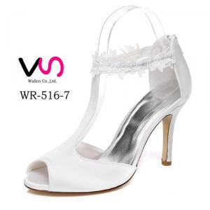 9cm Heel Height Lace edge Flower details Ivory Color Sandal Women Wedding Bridal Shoes