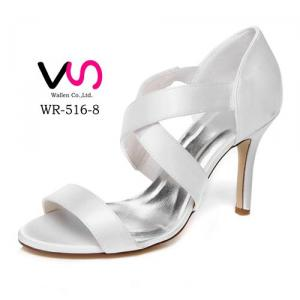 WR-516-8 9cm Heel Height without Platform Ivory Color Strap Sandal Wedding Bridal Shoes
