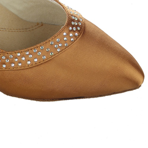 Rhinstone comfortable dance shoes for Salsa