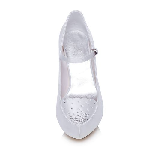 WR-370-96A 10cm Dyeable Bridal Shoes One Pair can be Accepted