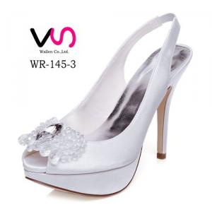 12cm High Heel White Color Crystal Wedding Bridal Shoes