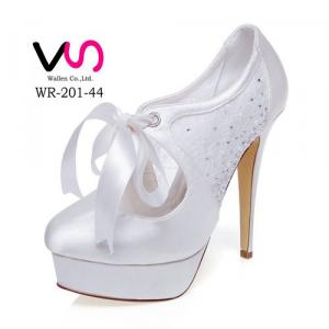 13cm High Heel WR-201-44 Bridal Shoes In Ivory Color fo Wholesale