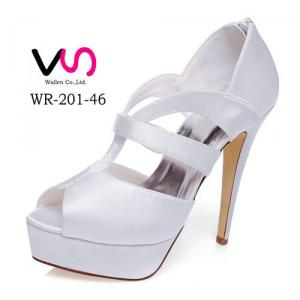 WR-201-46 Dyeable Satin Super High Heel Wedding Bridal Shoes