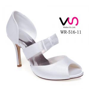 WR-516-11 Ivory Color Bridal Shoes with Bow Made in China