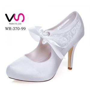 WR-370-99 10cm Heel Height With Platform Ivory Color Pump Bootie Wedding Bridal Shoes