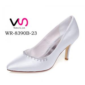 WR-8390B-23 Ivory Color Pointy Shoe Toe Closed Shoe Toe Bridal Shoes
