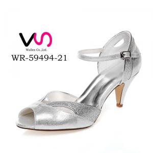 WR-59494-21 Silver Color Shinny Sansal Wedding Bridal Shoes for After Party Shoes