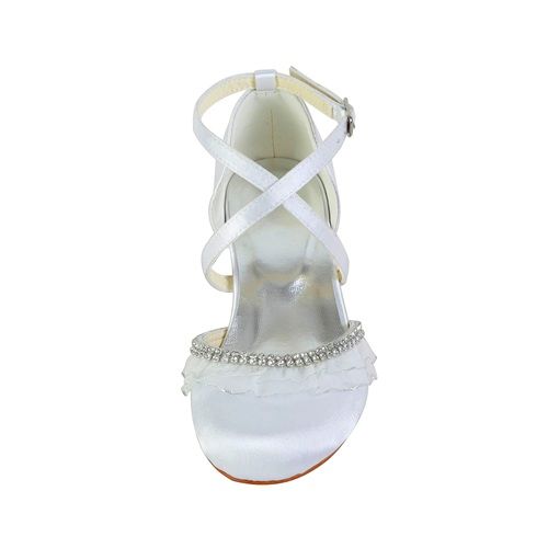 Small heel handmade kids shoes for wedding communion shoes