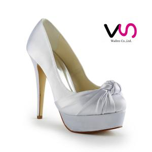 Over 12cm heel high elegant dyeable bridal shoes wedding shoes