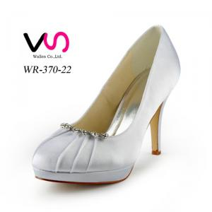 Small wrinkle decoration beautiful bridal shoes